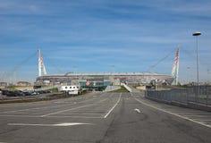 尤文图斯队体育场在都灵 库存照片