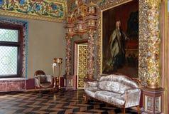 尤苏波夫宫殿在莫斯科。王位屋子。 免版税库存图片