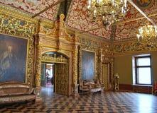 尤苏波夫宫殿在莫斯科。王位屋子。 库存照片