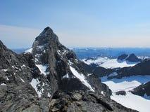 尤通黑门山脉,挪威 库存图片