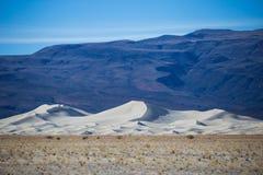 尤里卡谷白色沙丘  库存图片