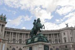 尤金王子雕象 免版税图库摄影