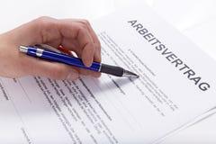 就业合同 免版税图库摄影