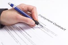 就业合同 免版税库存图片