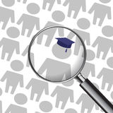 就业好处教育 向量例证