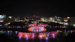 就职典礼布加勒斯特新的Unirii方形的大喷泉英尺长度由Apa新星的 股票视频