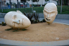 尹和杨铜雕塑 免版税图库摄影