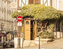 尺侧皮的餐馆,巴黎,法国 免版税库存图片