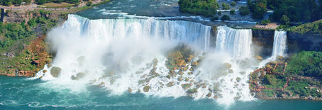 尼亚加拉大瀑布全景 库存照片
