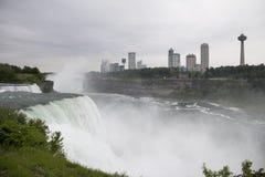 尼亚加拉大瀑布加拿大端 免版税库存图片
