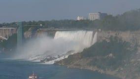 尼亚加拉大瀑布在美国边的风景视图 影视素材