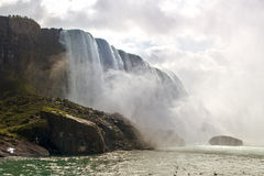 尼亚加拉大瀑布好的视图  库存图片