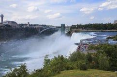尼亚加拉大瀑布看法在晴天, NY,美国 免版税库存图片