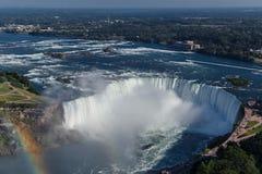 尼亚加拉大瀑布马掌看法  库存照片