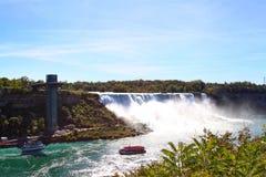 尼亚加拉大瀑布,从加拿大的看法 库存图片