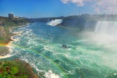 尼亚加拉瀑布俯视 库存照片