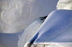 尼亚加拉瀑布冰 免版税库存图片