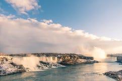 尼亚加拉瀑布准备好壮观的日落 免版税图库摄影