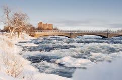 尼亚加拉瀑布在冬天,美国 免版税图库摄影
