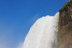 尼亚加拉瀑布夏时的美国边 免版税库存照片
