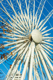 尼亚加拉瀑布天空轮子关闭视图 免版税图库摄影