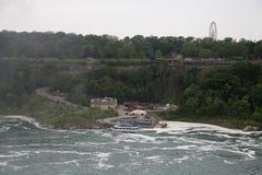 尼亚加拉瀑布河沿口岸 库存照片