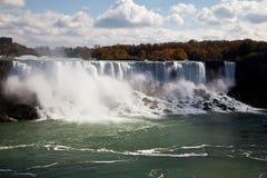 尼亚加拉瀑布浪花秋天视图水牛城美国 库存照片