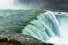 尼亚加拉瀑布的美国边 图库摄影