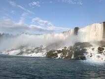 尼亚加拉瀑布美国边 免版税图库摄影