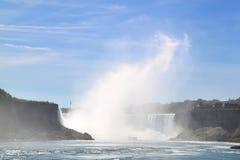 尼亚加拉瀑布马掌瀑布  库存照片