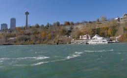 尼亚加拉瀑布,加拿大- 2016年11月13日:Skylon塔是 免版税库存照片