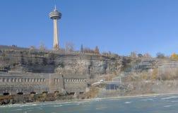 尼亚加拉瀑布,加拿大- 2016年11月13日:Skylon塔是 免版税图库摄影