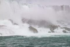 尼亚加拉瀑布,美国人落特写镜头 库存图片