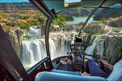 尼亚加拉瀑布直升机 库存照片