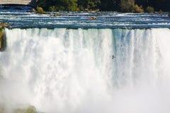 尼亚加拉秋天马掌 安大略 加拿大 背景美丽的瀑布 免版税库存图片