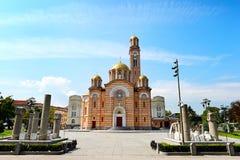 巴尼亚卢卡大教堂 免版税库存图片
