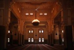 尼亚美盛大清真寺内部在尼亚美,尼日尔 免版税库存照片