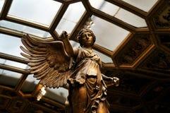 尼克古老雕塑的飞过的胜利  库存照片
