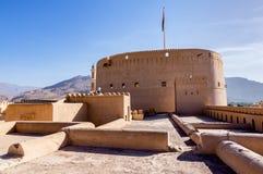 尼兹瓦堡垒在尼兹瓦,阿曼 库存照片