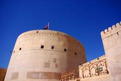 尼兹瓦堡垒,阿曼看法  免版税库存照片