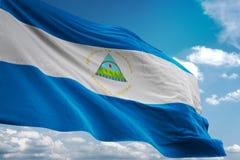 尼加拉瓜全国沙文主义情绪的蓝天背景现实3d例证 皇族释放例证