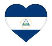 尼加拉瓜心脏旗子  皇族释放例证