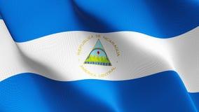 尼加拉瓜沙文主义情绪在风 库存例证