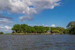 从尼加拉瓜湖的Isletas 免版税库存照片