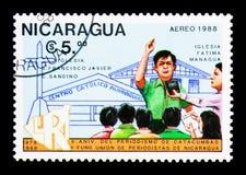 尼加拉瓜的新闻工作者协会第10周年,大约 免版税图库摄影