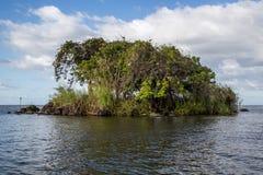 从尼加拉瓜的Isletas de格拉纳达视图 库存图片