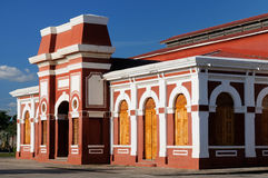 尼加拉瓜,在老火车站的看法在格拉纳达 库存图片