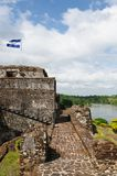 尼加拉瓜,在El Castillo的筑堡垒于的城堡 免版税库存照片