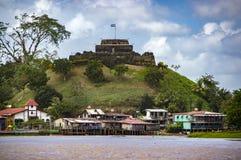 尼加拉瓜,在El Castillo的筑堡垒于的城堡 库存照片