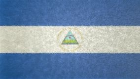 尼加拉瓜3D的原始的旗子图象 库存例证
